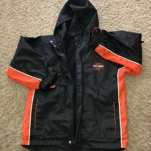 Harley Davidson boys size 7 hooded jacket